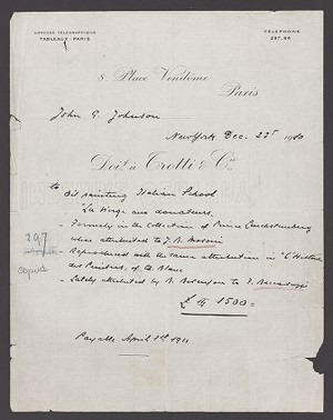 Invoice from Trottie & Cie.