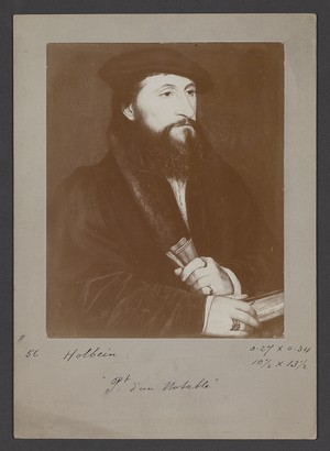 Photographic print of portrait painting attributed to Hans Holbein the Younger